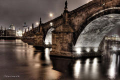 Charles Bridge (Stevacek) Tags: longexposure bridge reflection night river geotagged bravo czech prague prag praha most czechrepublic charlesbridge vltava hdr kampa noc karluvmost reka odraz tthdr abigfave stevacek geo:lat=5008650976085087 geo:lon=1441119707677343