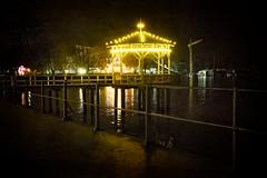 Now And Then - Abend am Bodensee (macplatti) Tags: night nightshot nachtaufnahme lichter lights candle lake water dark romantic bregenz vorarlberg austria aut workingpeople cranes bregenzfestival bregenzerfestspiele altersteg onone scottdavenport