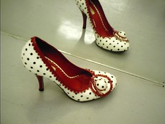 too bad it's not mine (jamile ...) Tags: red white black hat shoe polkadot