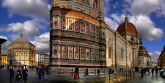 Firenze, il Duomo e la Cattedrale di S. Maria del Fiore (Batistini Gaston) Tags: italy panorama beautiful manipulated perfect picture panoramic firenze photoshoped hdr batistini
