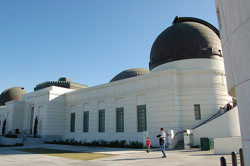 Sun from West Shines Upon Griffith Observatory