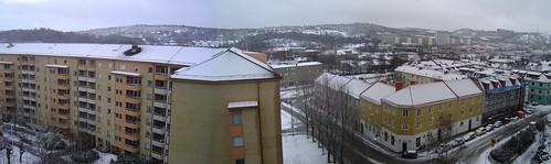 Göteborg snow panorama