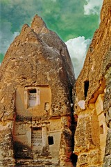 within cone formations (shapeshift) Tags: travel history film archaeology stone architecture turkey early ancient ruins rocks europe doors roman turkiye unesco middleages unescoworldheritage christians cappadocia worldheritage anatolia shapeshift goreme nevsehir davidpham davidphamsf