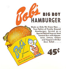 Bob's Big Boy Menu Card (bayswater97) Tags: california vintage menu retro drivein 1950s hamburger bigboy bobsbigboy menucard