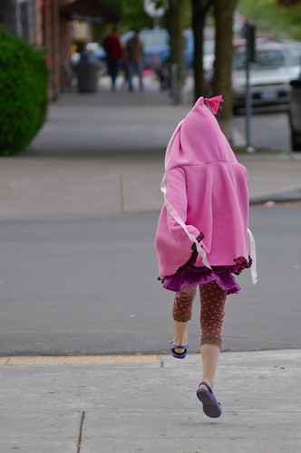 April 24: Skipping in a Pink Poncho