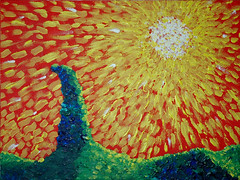 thingy_1 (DustySigns76) Tags: sun painting artwork acrylic