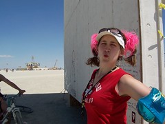 Love from the Only Lifeguard on Duty at Burning man! (fleepy_99) Tags: lifeguard burningman