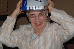 Mom's bike helmet