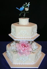Competition Cake (Temeraire) Tags: wedding cake weddingcake peony fondant fairywren cakedecorating birdcake