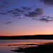 Crescent Moon Sunset, Yellowstone Lake - by Fort Photo
