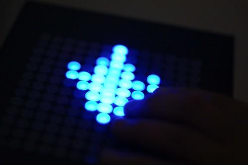 Haptic and luminous screen