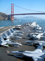 Under the Bridge (Telstar Logistics) Tags: sanfrancisco f18 usnavy ussnimitz chesternimitz cvn68 fleetweek2006 namedafterpeople
