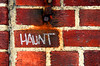 imperative statement (JKönig) Tags: red brick texture portland graffiti chalk rust maine iam haunt andyouknowwhat peoplesawmestandinginfrontofthiswallshooting andtheythoughtiwasalittlenuts