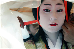 Final Touches: Jidai Matsuri (mboogiedown) Tags: travel woman topf25 girl beautiful beauty face hat festival japan asian japanese interestingness women october kyoto colorful asia veil traditional culture makeup explore 京都 noh 日本 haunting kimono tradition 秋 kansai 旅行 matsuri cultural 着物 関西 10月 女 jidai 旅 文化 祭 日本人 アジア 美人 能 美 時代 finaltouches 時代祭 i500 伝統的な yokosojapan ニッポン gtaggroup goddaym1 fivestarsgallery moderntradition abigfave autumninkyoto experiencejapan festivalsofjapan fallinkyoto festivalsofkyoto discoverkyoto 京祭 京秋 colorsofkyoto uchikatsugi