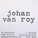crox 50 johan van roy objecten / objects 14 september - 6 oktober 1996   croxhapo Gent Ghent Belgium