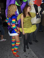 More Rainbow Brite, More Bee (Joe Shlabotnik) Tags: newyorkcity halloween 2006 parade bee halloweenparade greenwichvillage rainbowbrite faved october2006