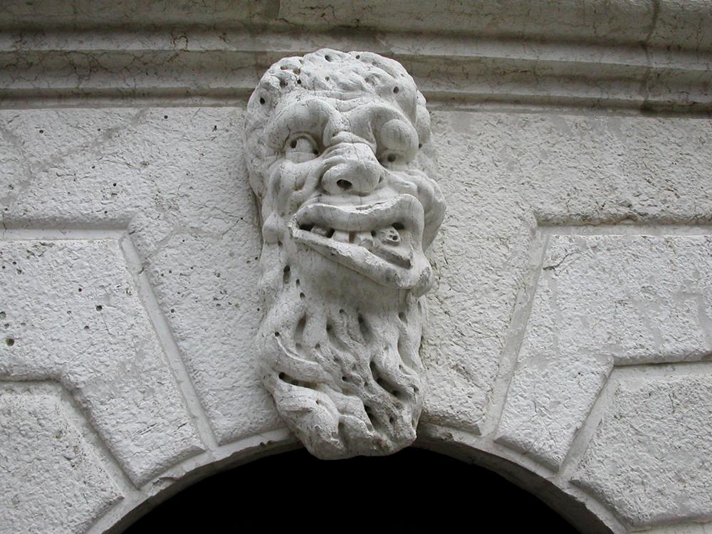 Unknown sculptor, Head at Santa Maria Formosa, 1604, Venice