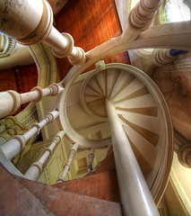 Organ staircase Saint Mary's Studley Royal, Yorkshire UK (fotofacade) Tags: tower church eh stairs interior william link fountainsabbey hdr burges goldenmean cotcmostinteresting williamburges abigfave fotofacade saintmarysstudley impressedbeauty superaplus aplusphoto