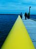yellow handrail (getthebubbles) Tags: blue fall yellow xpro dock crossprocessed florida kodak web moo ff charityauction getthebubbles filemagazine spselection utatathursdaywalk28 utata:project=tw2006 utata:project=v3test4