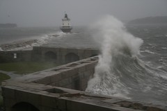 Spring Point (nbowie414) Tags: ocean lighthouse storm point spring waves maine