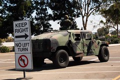 Traffic Enforcement at Naval Base Coronado (fsheff) Tags: cars car traffic control military coronado humvee