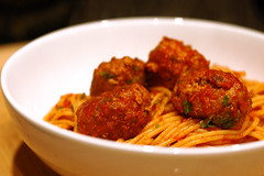 Spaghetti and Turkey Meatballs - by pcarpen