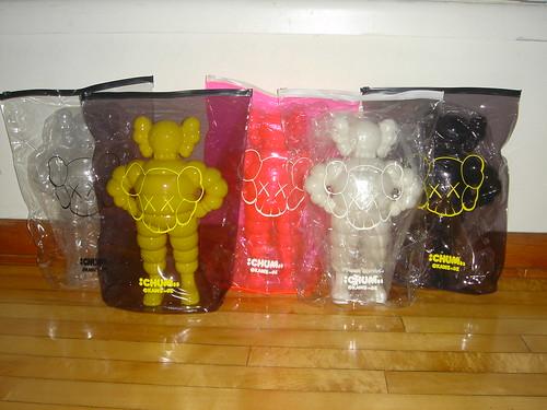 All 5 Kaws Chum Figures by seanbonner.