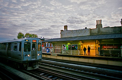 Armitage Station at Dusk (rjseg1) Tags: chicago bridges trains el armitage