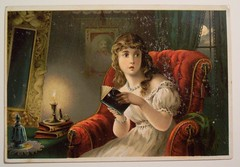 "Vintage Halloween Trade Card ""Ghost Story..."