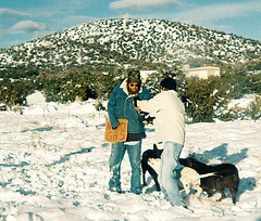 Holland gives (Lori Greig) Tags: thanksgiving snow man money mountains cold newmexico dogs sign shadows homeless son help giving need donation hungry begging thanksgivingtrip indigent