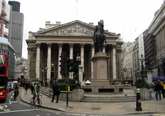 UK - London - The City: Royal Exchange and the Iron Duke - by wallyg