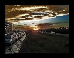 PUESTA DE SOL EN EL ALJARAFE (18:08) (Pedro J. Saavedra) Tags: espaa sol de noche sevilla andalucia puesta aljarafe