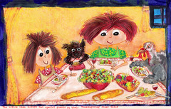 Illustration Friday: Thanksgiving (mion.nl) Tags: thanksgiving illustration turkey drawing illustrationfriday copyrightmionnl mionnl
