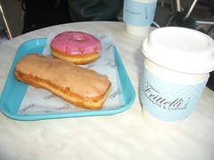 our breakfast (jslander) Tags: la maple donuts donut doughnut raspberry beverlyhills doughnuts frittellis frittellisdoughnuts mapledoughnut