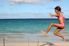 Z taking off (lucy96734) Tags: hawaii jump child oahu z lanikaibeach longjumpingatthebeach