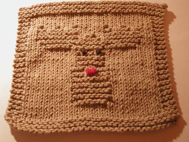 Ravelry Reindeer Dishcloth Pattern By Knitted Kittycarol