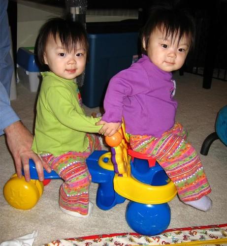 Biker chicks (poor Ree always has to sit in the basket)