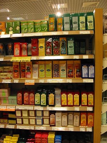 tés en un supermercado finlandés