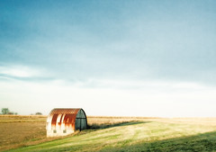 Rustic Fields (Todd Klassy) Tags: farm barn rural field corn hay monroe color hue photoshop diffuse glow noise rust roof sky colour country agriculture fall autumn wideangle wi wis