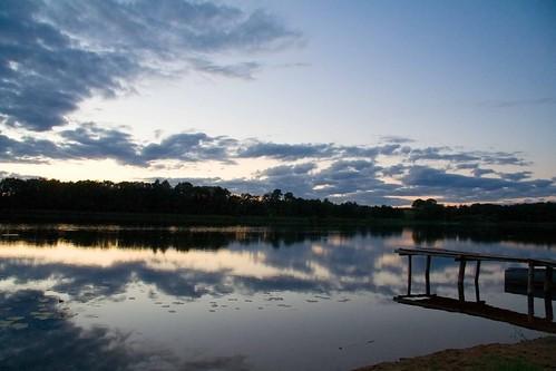 Lake, evening...