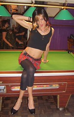 Pool table 2 (Melanie_cduk) Tags: sexy pool tv cd tights crossdressing hose tranny transvestite heels pantyhose crossdresser ts trannie rockchic