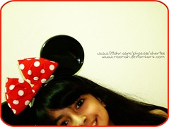 Reemie Mouse (Cherie) Tags: red white girl mouse uae disney spots minnie cherie reem bint