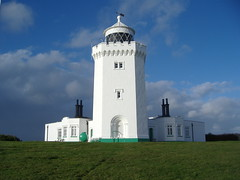 South Foreland Lighthouse (Elusive.Lusha) Tags: november blue winter light sea sky lighthouse beautiful architecture clouds coast kent fishing great coastal maritime guide nautical nationaltrust dover