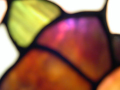 Stained glass (georaz) Tags: brown white black green glass lamp colors yellow contrast out blurry focus colours pieces purple magenta violet blurred stained segment piece unfocused segments segmented