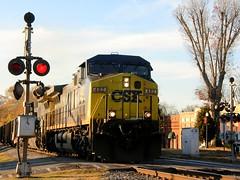 Railroad Crossing (Kenny Shackleford) Tags: railroad train georgia track crossing engine csx acworth