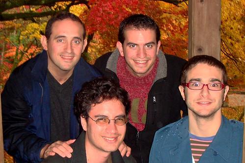 Con Oscar, Carlos y Ale
