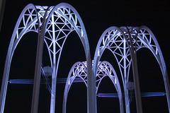Seattle Center Arches (bentilden) Tags: seattle usa night pentax arches washingtonstate seattlecenter istdl
