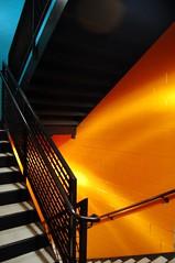 Orange with a bit of blue (mrkittums) Tags: november blue ohio orange d50 catchycolors geotagged nikon cleveland 2006 stairwell westlake 1855mm flickrcentral nikondigital 1855mmf3556g crockerpark nikond50users d50kitlens kitlenselosers justnikond50 tehusagent
