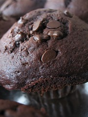 chocolatey goodness (KickAssCanadian_Chick) Tags: food cupcakes baking naturallight before sweets eats onblack imadethese canona620 monstercakes