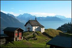 Un p'tit coin de paradis (MrUllmi) Tags: mountains alps church topf25 wow switzerland scenery lovely1 topv1111 topc50 loveit 2550fav bettmeralp impressedbeauty